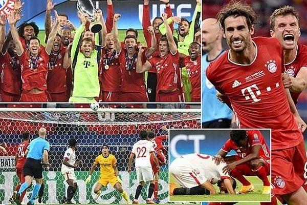 Bayern Munich đoạt siêu cúp châu Âu, Liverpool và Man City vào vòng 1/8 Carabao Cup