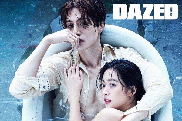 Lee Dong Wook khoe ngực, chụp ảnh 'ướt át' với Jo Bo Ah trong bồn tắm