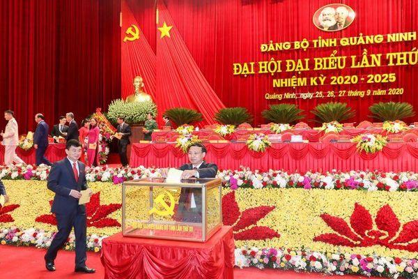 Quảng Ninh bầu Ban Chấp hành Đảng bộ tỉnh khóa XV, nhiệm kỳ 2020-2025