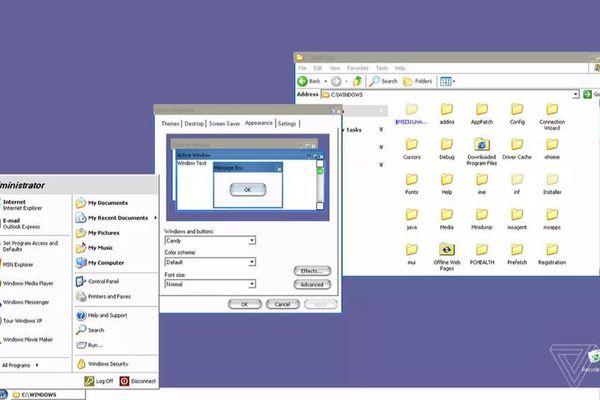 Windows XP có một giao diện bí mật trông không khác gì MacOS của Apple
