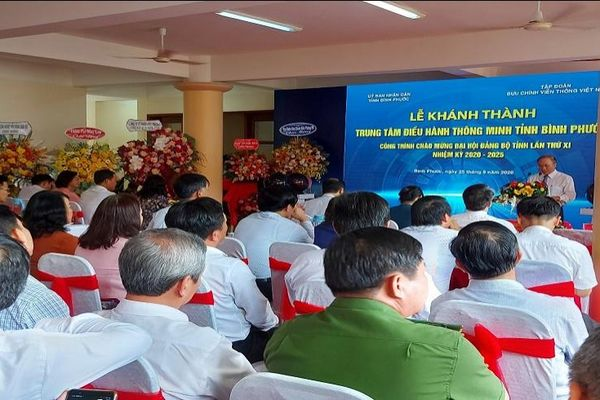 Bình Phước: Khánh thành trung tâm điều hành thông minh tỉnh (IOC)