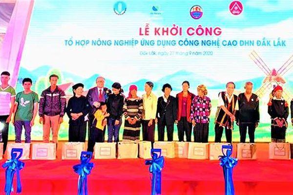 Khởi công dự án Tổ hợp khu nông nghiệp ứng dụng công nghệ cao Đắk Lắk
