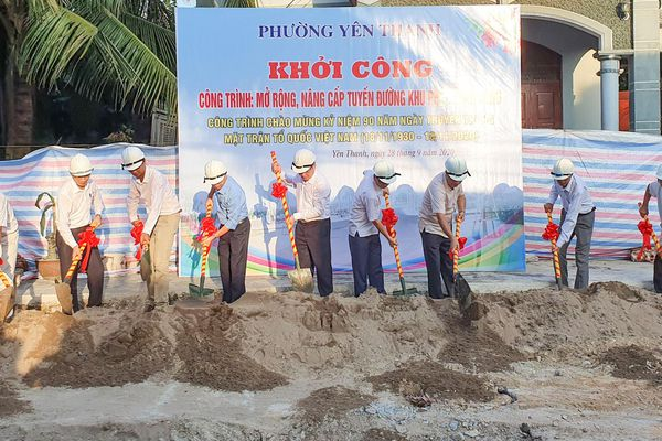 Uông Bí: Khởi công công trình chào mừng 90 năm Ngày truyền thống MTTQ Việt Nam