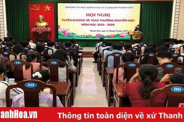 Hội Khuyến học Khối cơ quan và doanh nghiệp tỉnh Thanh Hóa trao thưởng khuyến học