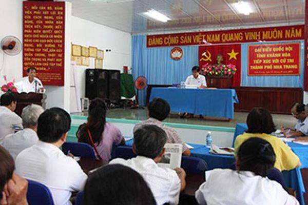 Đại biểu Quốc hội tỉnh tiếp xúc cử tri 15 xã, phường TP. Nha Trang