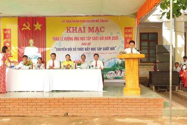 Quảng Bình: Phát động Tuần lễ học tập suốt đời với chủ đề 'Chuyển đổi số thúc đẩy Học tập suốt đời năm 2020'