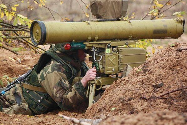 Bị phục kích, tăng T-72 Azerbaijan bốc cháy vì trúng tên lửa 9K111 Fagot