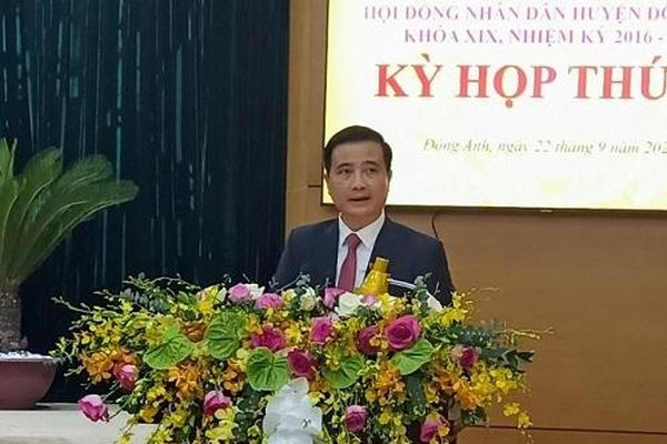 Chủ tịch UBND TP Hà Nội phê chuẩn kết quả bầu chức vụ Chủ tịch UBND huyện Đông Anh đối với ông Nguyễn Xuân Linh