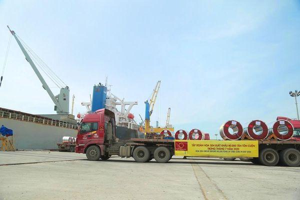 Bất chấp COVID-19, sản lượng tiêu thụ và xuất khẩu của Tập đoàn Hoa Sen đều tăng vọt