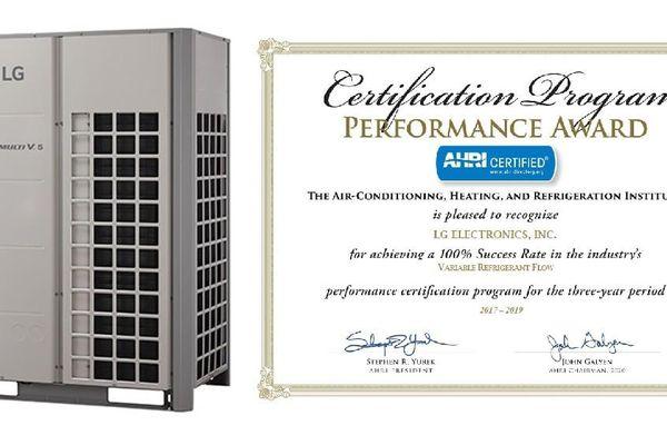 Hệ thống điều hòa không khí của LG nhận mưa giải thưởng AHRI ba năm liên tiếp