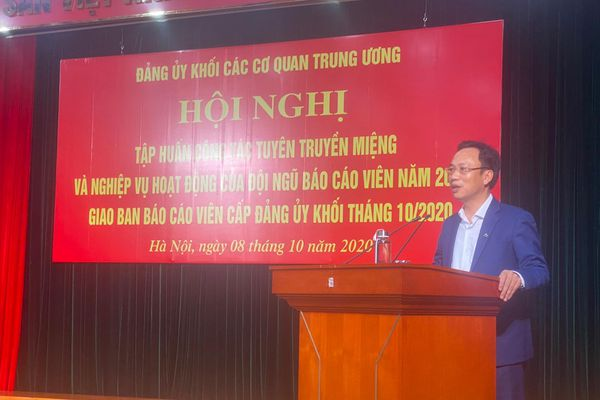 Đảng ủy Khối các cơ quan Trung ương: Nâng cao kỹ năng tuyên truyền miệng cho đội ngũ báo cáo viên