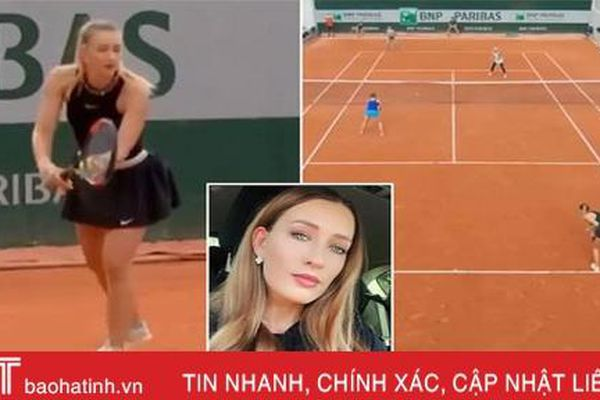 Người đẹp Nga bị nghi 'bán mình' cho mafia ở Roland Garros 2020