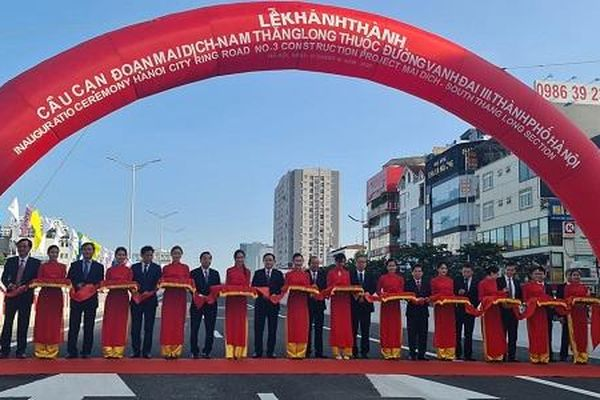 Hà Nội: Chính thức thông xe cầu cạn Mai Dịch – Nam Thăng Long