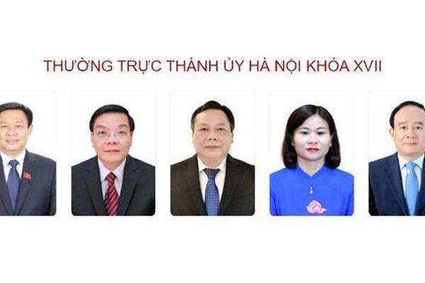 Chân dung Bí thư, 4 Phó Bí thư Thành ủy Hà Nội khóa mới