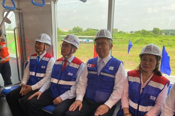 Ra mắt đoàn tàu từ Nhật Bản của tuyến metro Bến Thành - Suối Tiên
