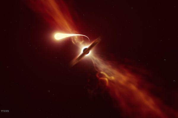 Hình ảnh chi tiết đầu tiên về hiện tượng hố đen 'nuốt chửng' ngôi sao