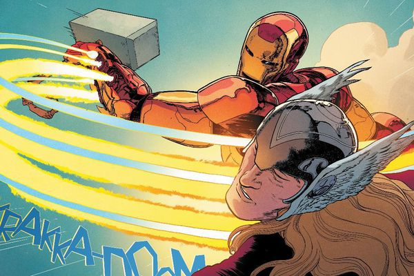 Iron Man vừa cầm búa nện vào mặt Thor?