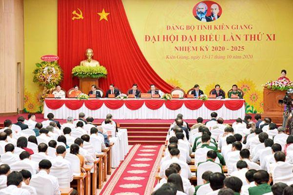 Khai mạc Đại hội Đảng bộ tỉnh Kiên Giang lần thứ 11