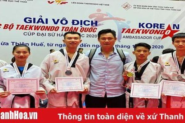 Giành thêm 4 huy chương, Taekwondo Thanh Hóa duy trì phong độ xuất sắc tại giải vô địch CLB toàn quốc