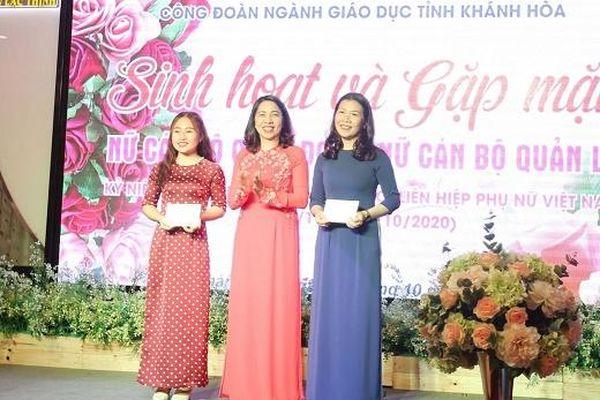 Công đoàn ngành Giáo dục tỉnh Khánh Hòa gặp mặt nữ cán bộ công đoàn, nữ cán bộ quản lý