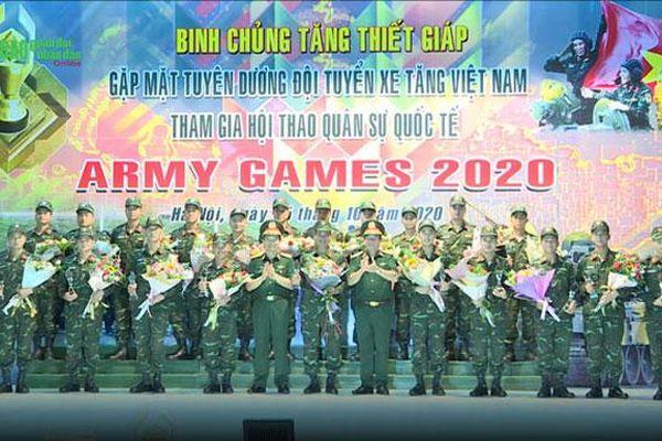 Tuyên dương các đội tuyển tham gia Hội thao quân sự quốc tế năm 2020