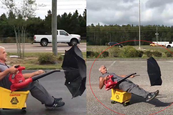 Chế tạo 'xe' chạy bằng máy thổi lá ở Mỹ