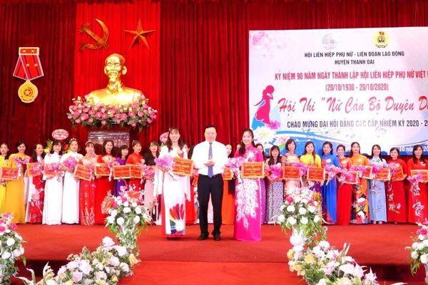Huyện Thanh Oai tổ chức hội thi 'Nữ cán bộ duyên dáng' năm 2020