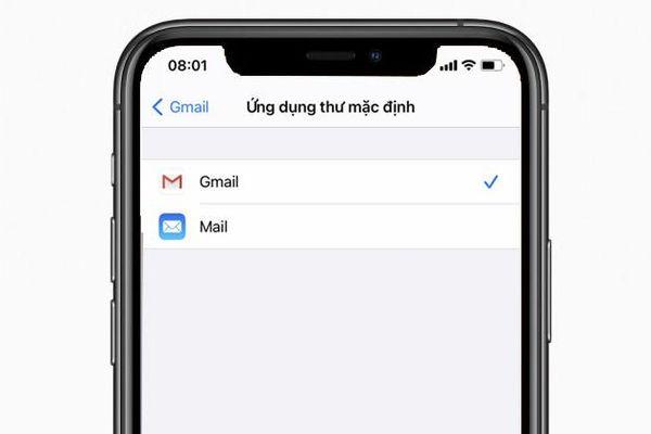 Cách đặt Gmail làm ứng dụng email mặc định trên iOS 14