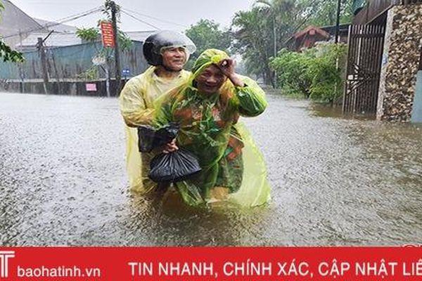 Các địa phương ở Hà Tĩnh sơ tán gần 21.000 người
