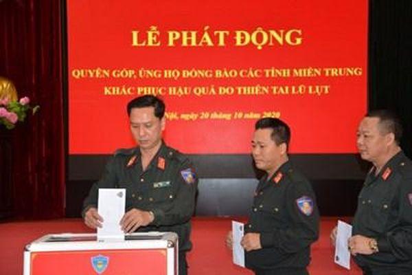 Bộ Tư lệnh Cảnh sát cơ động phát động ủng hộ đồng bào miền Trung