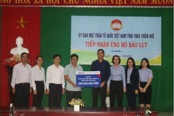 BIDV hỗ trợ đồng bào miền Trung bị ảnh hưởng bởi lũ lụt 8 tỷ đồng