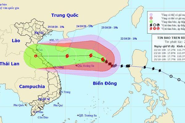 Bão số 8 giật cấp 15 cách quần đảo Hoàng Sa 350 km