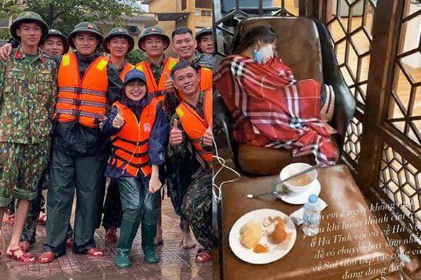 Hòa Minzy 'kiệt sức' phải tiêm 10 mũi thuốc sau nhiều đêm thức trắng cứu trợ miền Trung