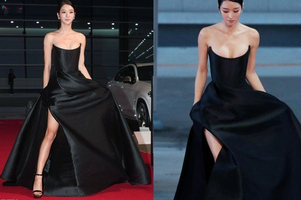 'Điên nữ' Seo Ye Ji o ép vòng 1 với chiếc váy hàng hiệu, chiếm trọn spotlight trên thảm đỏ