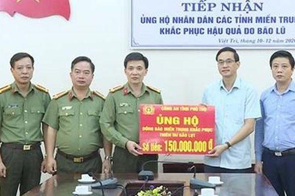 Công an tỉnh Phú Thọ ủng hộ đồng bào miền Trung