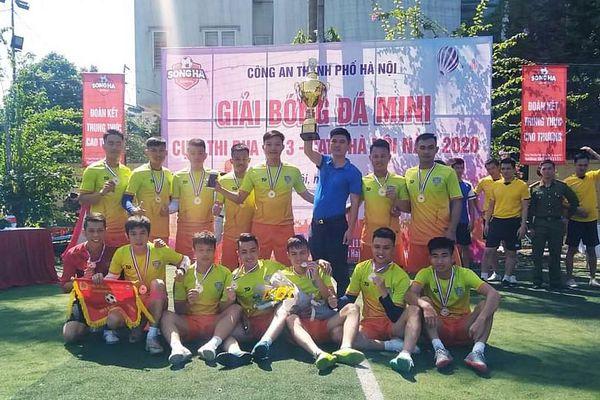 Trung đoàn CSCĐ vô địch giải bóng đá Cụm thi đua số 3 CATP Hà Nội
