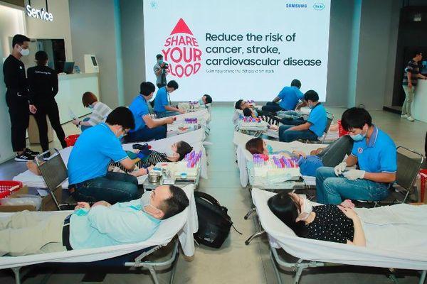 Bệnh viện Chợ Rẫy tổ chức hoạt động Hiến Máu Tình Nguyện với sự đồng hành của Samsung Vina