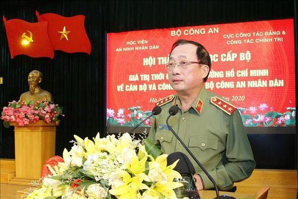 Giá trị thời đại của tư tưởng Hồ Chí Minh về cán bộ và công tác cán bộ Công an nhân dân