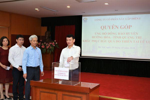 PCC1 quyên góp ủng hộ miền Trung khắc phục hậu quả lũ lụt