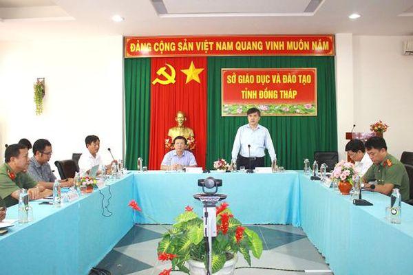 Đoàn Kiểm tra của Bộ Giáo dục và Đào tạo làm việc tại tỉnh Đồng Tháp