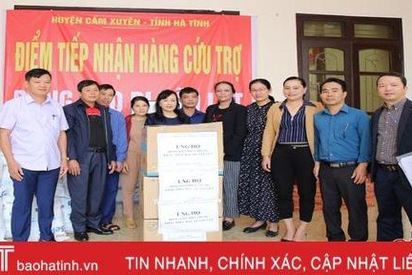 Ban Bảo vệ sức khỏe cán bộ Trung ương ủng hộ người dân Hà Tĩnh bị thiệt hại do lũ lụt