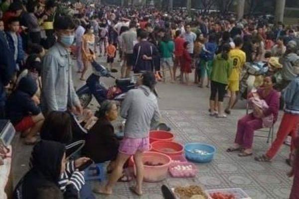Cháy tầng hầm để xe chung cư Đại Thanh, hàng trăm cư dân tháo chạy
