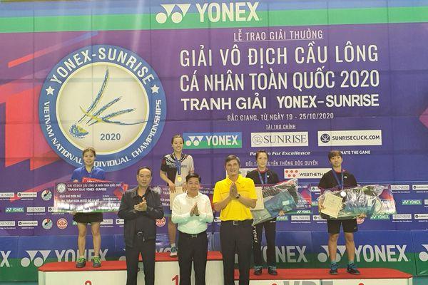 Giải vô địch cầu lông cá nhân toàn quốc 2020: Nguyễn Thùy Linh bảo vệ ngôi vô địch cá nhân nữ