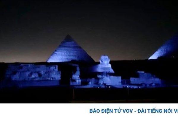 Ai Cập chiếu sáng Kim tự tháp nhân kỷ niệm 75 năm thành lập Liên Hợp Quốc