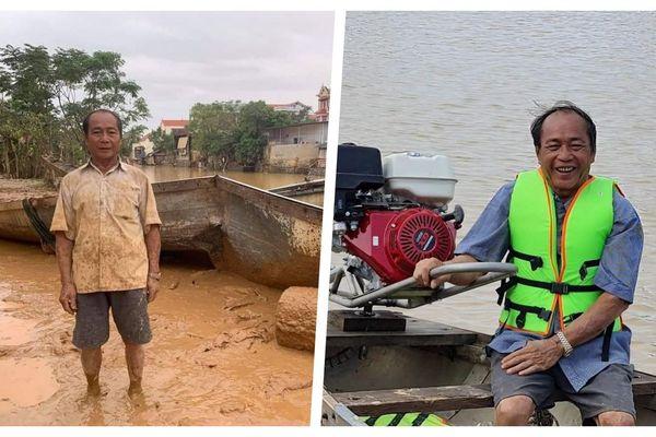 'Người hùng chân đất' cứu 100 người trong lũ dữ Quảng Bình đã được tặng con đò mới thay con đò bị vỡ