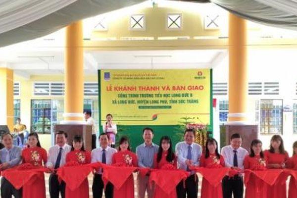 Phân bón Cà Mau tài trợ xây Trường tiểu học Long Đức B ở Sóc Trăng