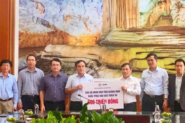 EVN ủng hộ Quảng Bình 500 triệu đồng khắc phục hậu quả thiên tai