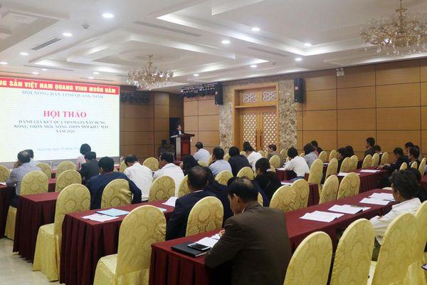 Hội thảo đánh giá kết quả tham gia xây dựng NTM, NTM kiểu mẫu