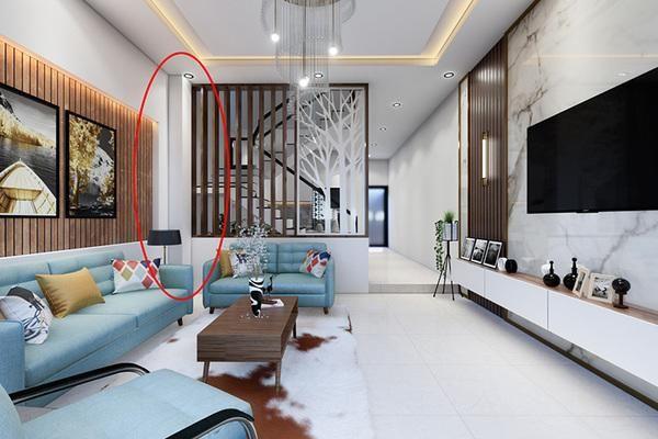 Góc nhọn và cột dầm phòng khách 'làm khổ' gia chủ, hóa giải bằng cách nào?