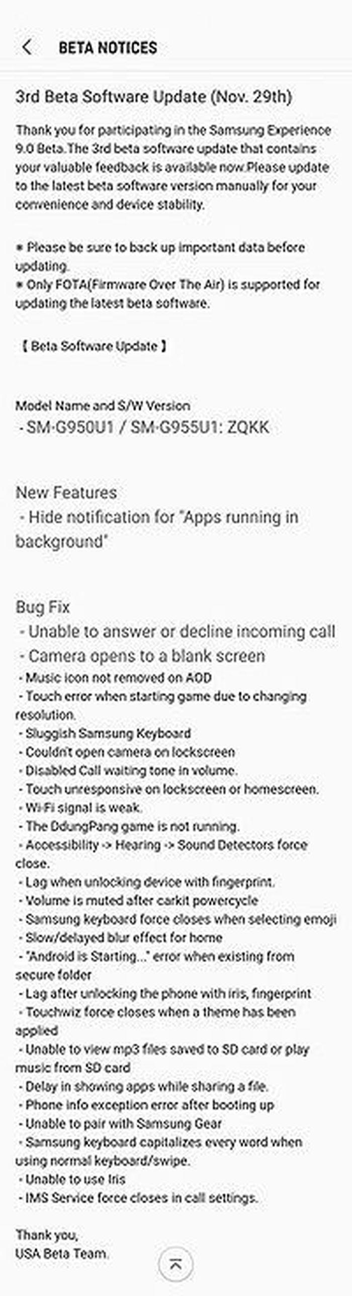 Samsung phát hành Android Oreo Beta 3 cho Galaxy S8 và S8+ ở
